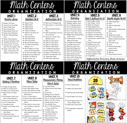 Math Centers for the Whole Year Bundle