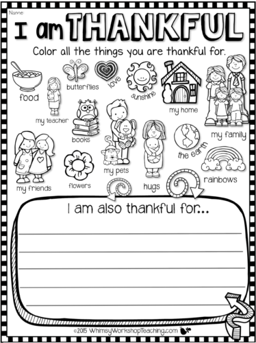 Writing About Gratitude Free DifferentiatedTemplates
