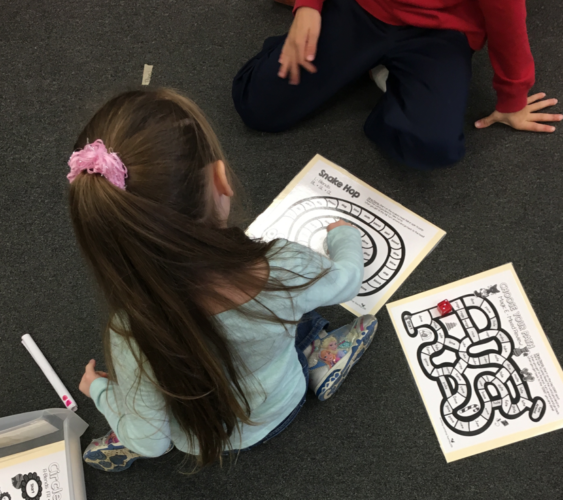 Playing game boards with phonics or math focus is an easy, no prep way for students to get the practice they need to improve reading skills.