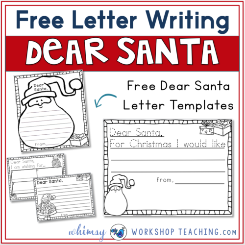 Free set of Dear Santa letters that are differentiated and include winter topics