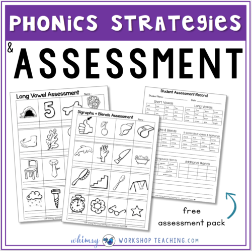 Phonics and spelling assessment pack