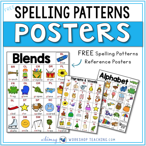 Spelling Patterns reference posters