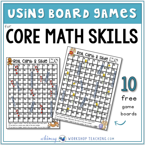 Using board games to practice core math skills in seasonal math centers