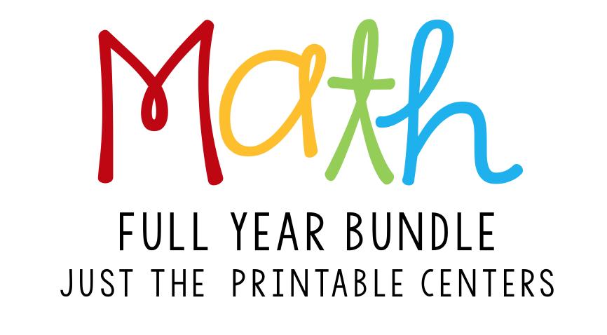 math centers bundle header