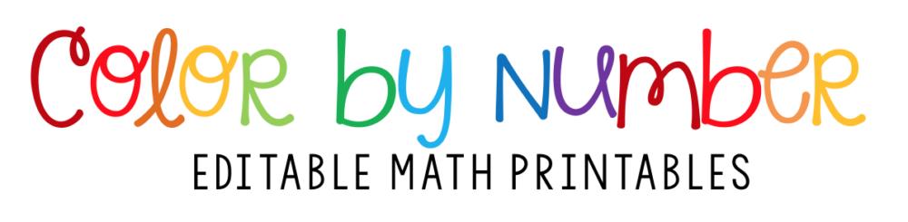 colorful math header