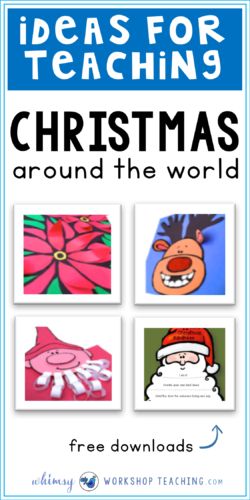Christmas around the world is a great way to learn about other cultures, while focusing on literacy through differentiated writing booklets for each country (several free Christmas writing and craft activities to download)