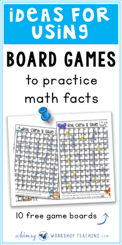 Using board games is a simple and engaging way to practice core skills for both math and writing or phonics. Read about how it's used for home practice, math centers and more (free pack of 10 seasonal board games to print and use)