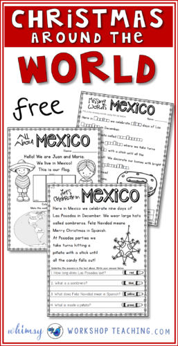 Study different cultures of the world and discover how they celebrate Christmas! These are pages about Christmas in Mexico.