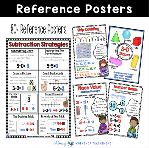 first grade math reference posters