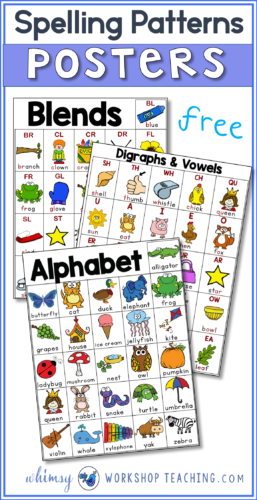 This is a set of FREE spelling patterns posters so students can have personal reference charts inside their reading folders!