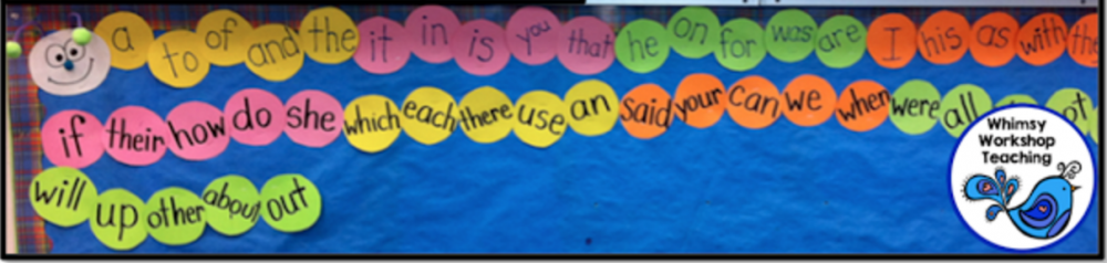 Sight Word caterpillar - in class and for student rooms at home