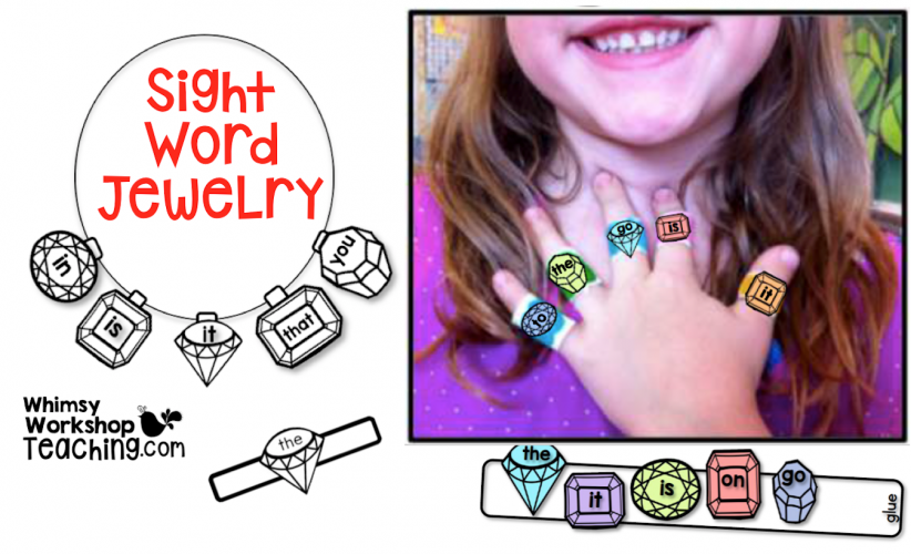 Sight Word Jewelry - unique and fun ways to practice word work!