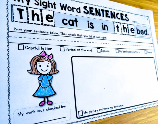 Sight Word Sentences Pack - Whimsy Workshop Teaching