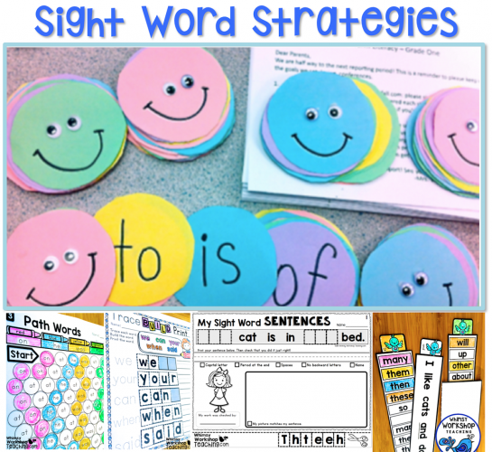 18 Sight Words Strategies and Resources - Whimsy Workshop ...