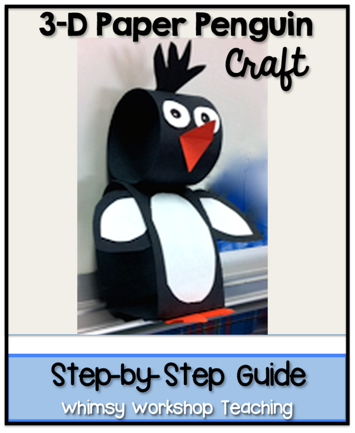 3D Paper Penguin Craft