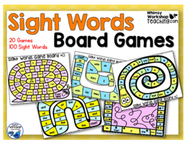Practice the first 100 sight words with easy, interactive and no-prep game boards!