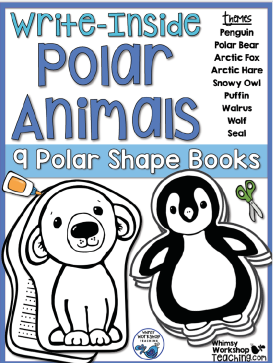 Write Insides has 9 cute animal shape booklets with matching lined pages - add as many as your students need to complete their writing
