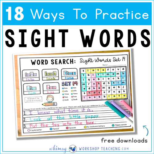18 Sight Words Strategies and Resources