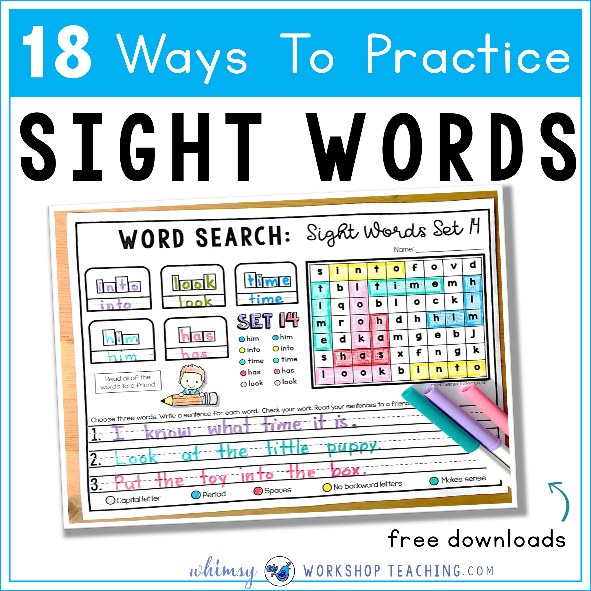 18 ways to practice sight words