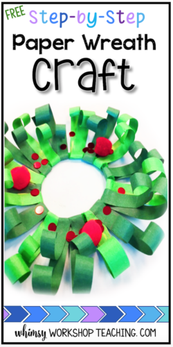 Download this FREE DIY Christmas craft tutorial to make this easy wreath craft!