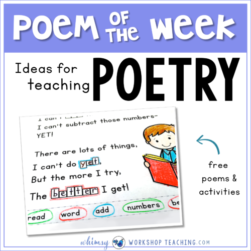 Poetry: Interactive Activities