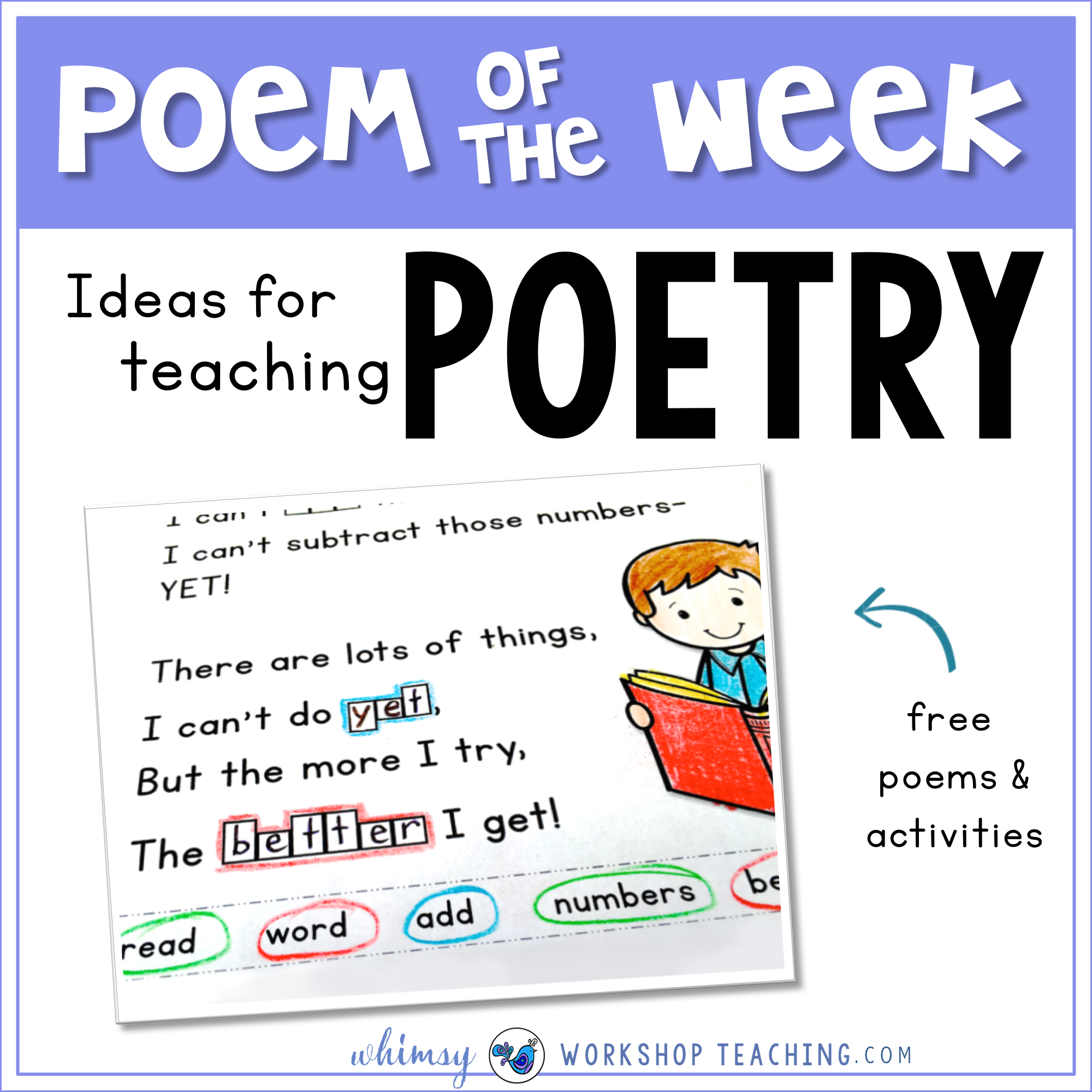 Poem of the Week and poetry ideas in the primary classroom