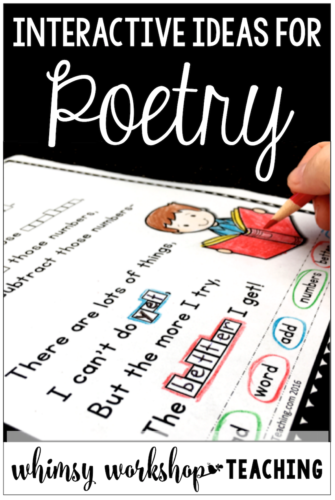 Poetry activities for kids with no prep printables for the whole year in your writing center (free sample pages)