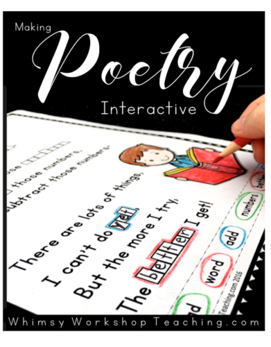 We LOVE poetry in our class - reading it, writing it, rearranging it, and reciting it! See a list of all the ways we use our poem of the week interactive and engaging, and grab some free sample pages!