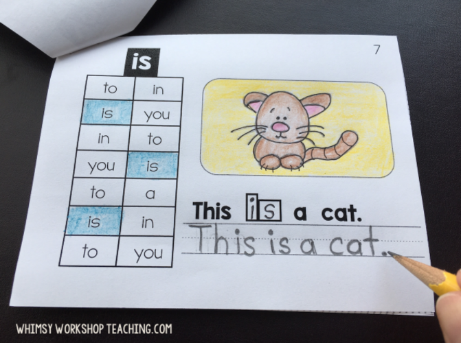 Practice sight words in context with these little sight word sentence booklets using search grids and expanding sentences