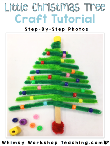 FREE download step by step photo tutorial - Pipe Cleaner Christmas ornament craft!