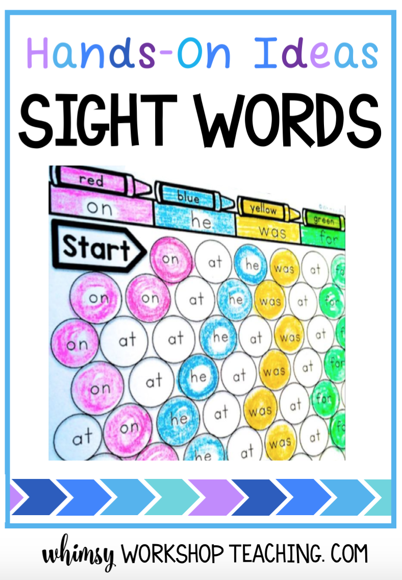 Read about lots of engaging ways to teach and practice sight words in your classroom (free sample pages download)