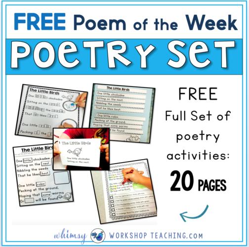 Free set of 20 pages using poem of the week in your classroom!