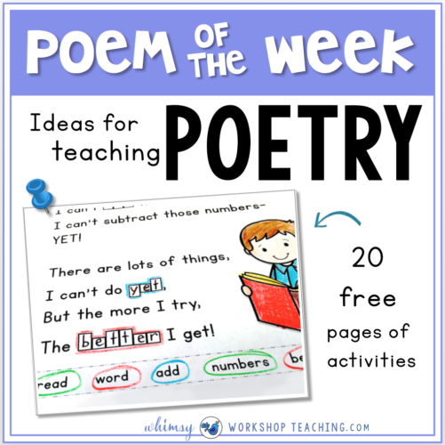 Poetry Activities using poem of the week activities