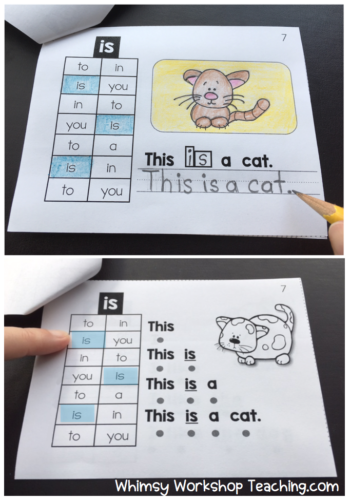 sight words mini books #sightwords