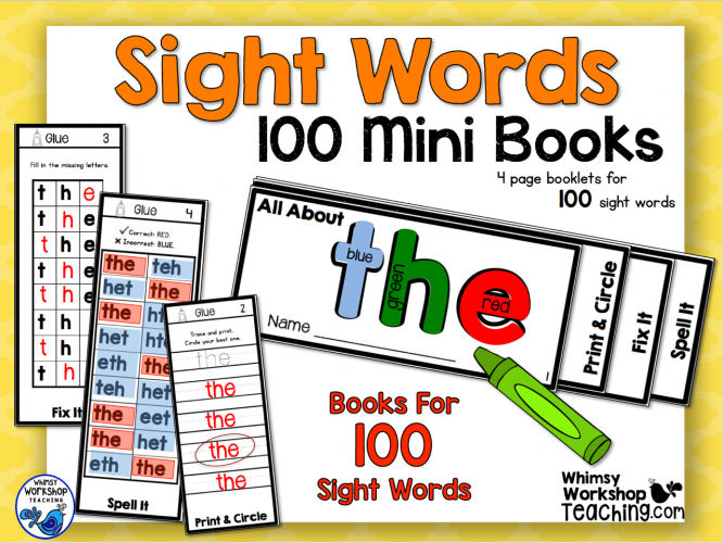 Sight Words - 100 Mini-Books