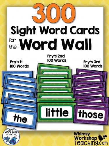 Sight Words - 300 Word Wall Words