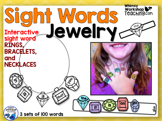 Sight Words - Jewelry