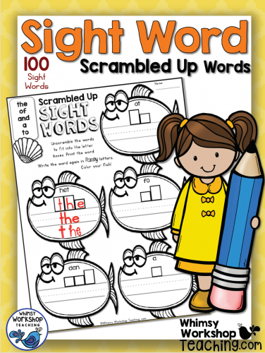Sight Words - Scrambled-Up Words