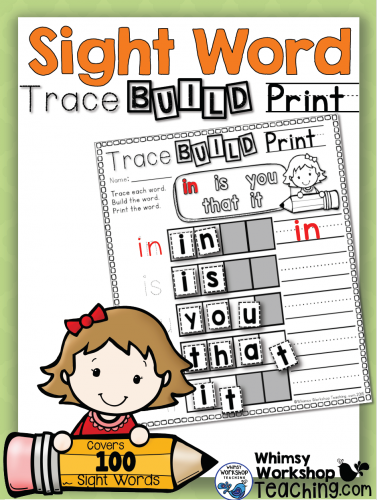 Sight Words Trace, Build, Print