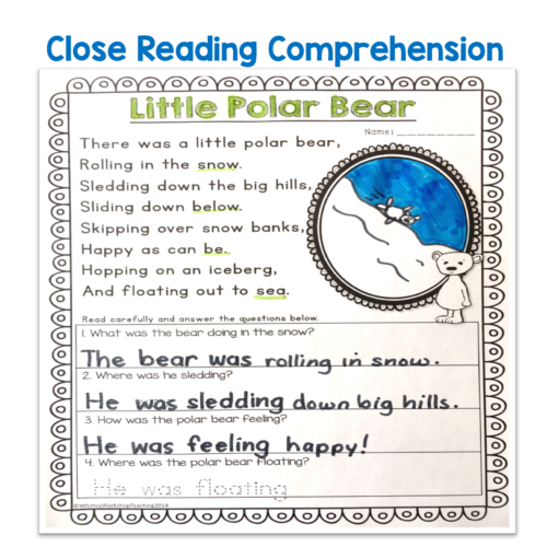 Poetry is perfect for seasonal writing centers all year long, as well as close reading and phonics activities to build mastery and confidence in reading and writing.
