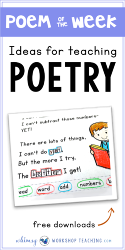 Poem of the week is a great way to teach so many literacy skills at once with very little prep (free poem downloads)
