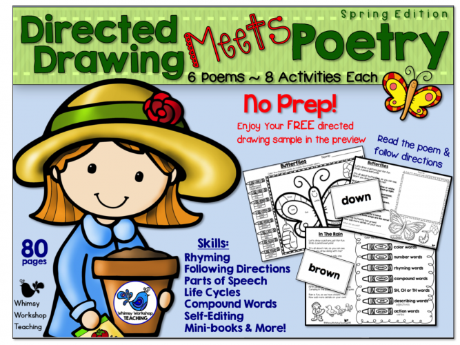 Directed Drawing Meets Poetry combines two favorite activities. The directions for drawing are embedded within each poem!