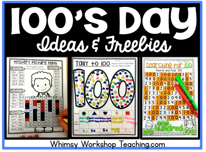 Lots of fun and interactive no prep ideas for celebrating 100's day all week long!