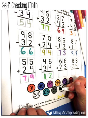 Self-checking strategies - students find their answer below and color BEFORE handing it in. Big time saver!