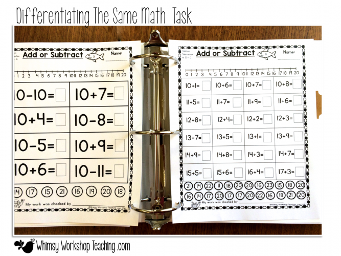 Three levels of difficulty for the same activity helps differentiate quickly and easily in a multi-age classroom
