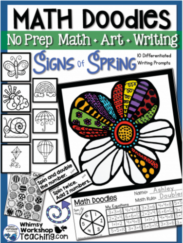 Math Doodles Signs of Spring