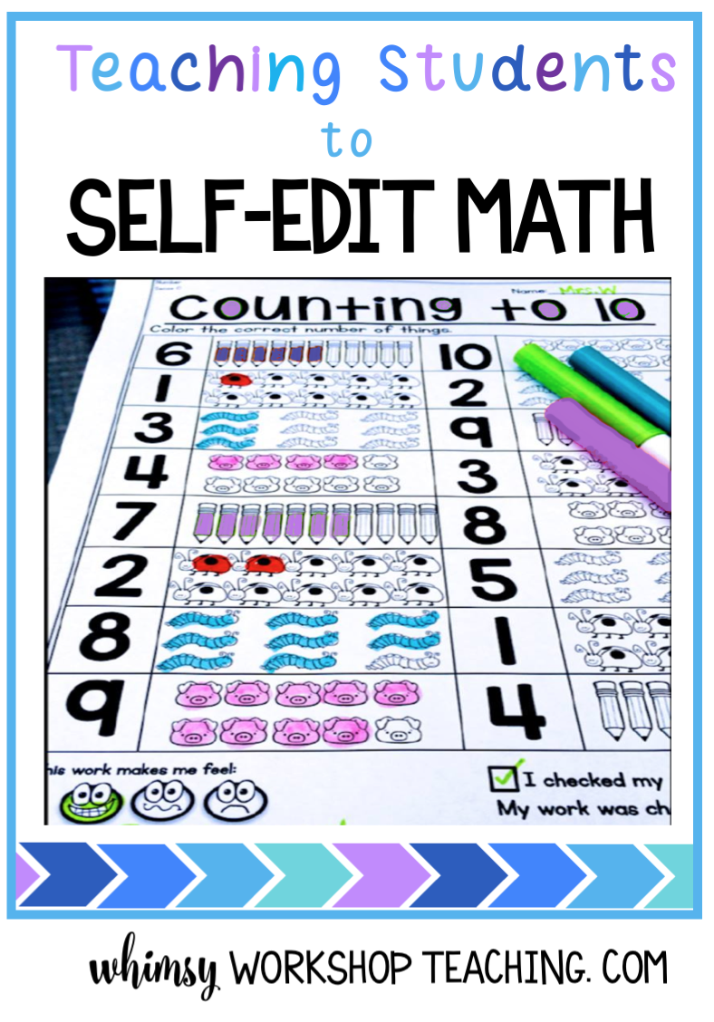 Teach students to self-edit and peer-edit their math work before handing in to establish good work habits (free pages and posters download)