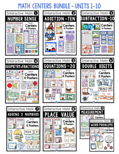 Printable Centers for the whole year