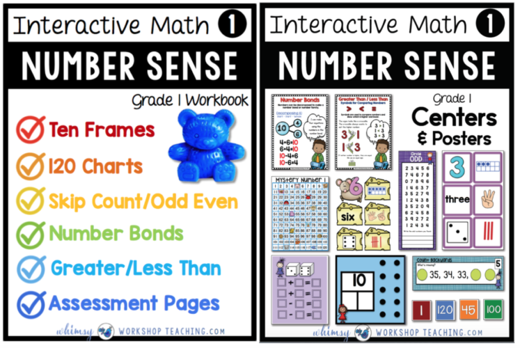 Single Sets include the workbook and centers for each topic