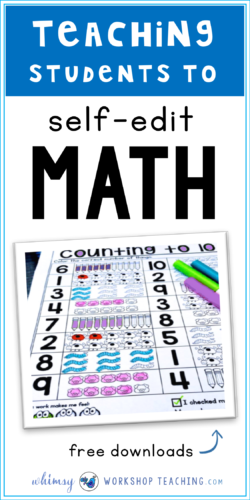 Teach students to self-check their work BEFORE they hand it in to you! This sets up good work habits for checking for errors after work completion (free sample pages)